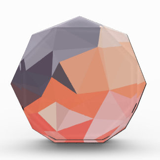Atomic Tangerine Orange Abstract Low Polygon Backg Acrylic Award