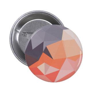 Atomic Tangerine Orange Abstract Low Polygon Backg Pinback Button