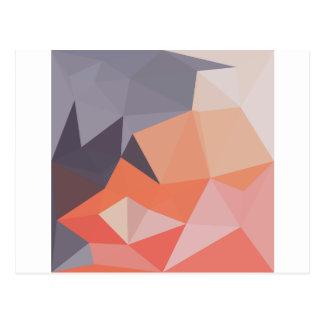 Atomic Tangerine Orange Abstract Low Polygon Backg Postcard