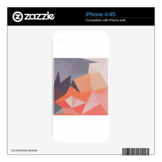 Atomic Tangerine Orange Abstract Low Polygon Backg Skin For The iPhone 4