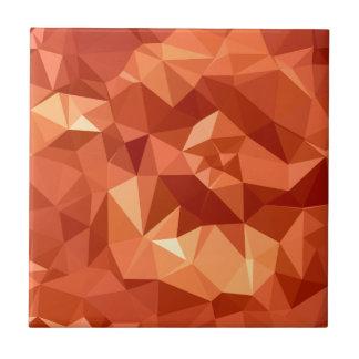 Atomic Tangerine Orange Abstract Low Polygon Backg Tile