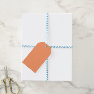 Atomic Tangerine Orange template to Customize Gift Tags