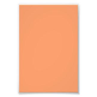 Atomic Tangerine Orange template to Customize Photo Print