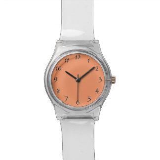 Atomic Tangerine Orange template to Customize Watch