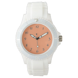 Atomic Tangerine Orange template to Customize Wrist Watch
