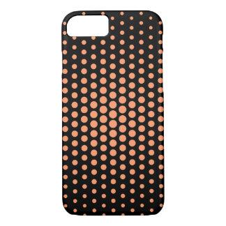 Atomic tangerine Techno Dots Modern Black iPhone 7 Case