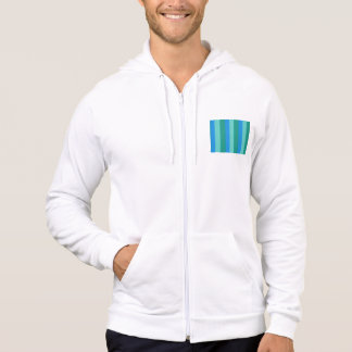 Atomic Teal and Turquoise Stripes Hoodie