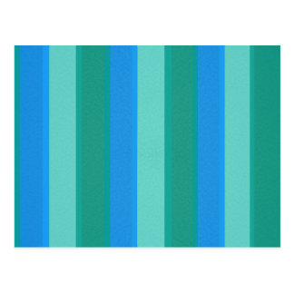 Atomic Teal and Turquoise Stripes Postcard