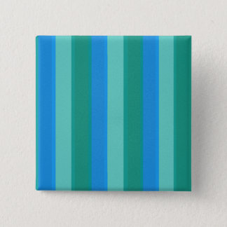 Atomic Teal and Turquoise Stripes Square Button