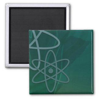 Atomic Teal Fridge Magnets