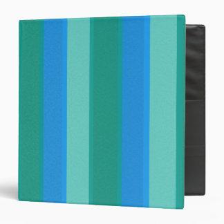 Atomic Teal & Turquoise Stripes Binder