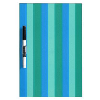 Atomic Teal & Turquoise Stripes Dry Erase Board