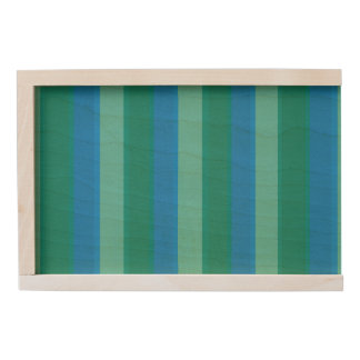 Atomic Teal & Turquoise Stripes Keepsake Box