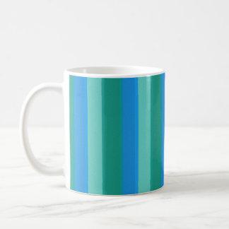 Atomic Teal & Turquoise Stripes Mug