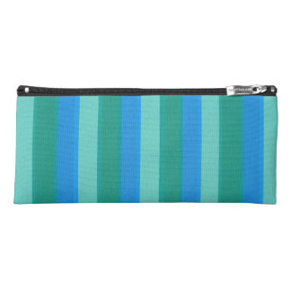 Atomic Teal & Turquoise Stripes Pencil Case