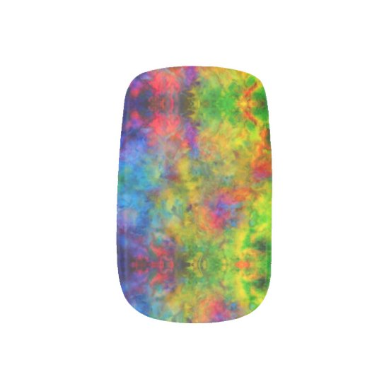[Atomic Tie-Dye]  Psychedelic Rainbow Colors Minx Nail Art