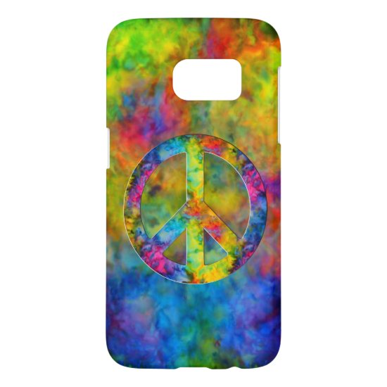 [Atomic Tie-Dye]  Psychedelic Rainbow Colors Samsung Galaxy S7 Case