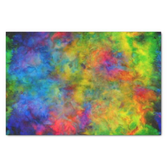 [Atomic Tie-Dye]  Psychedelic Rainbow Colors Tissue Paper