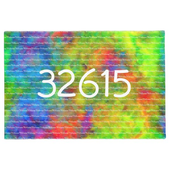 [Atomic Tie-Dye]  Psychedelic Rainbow  Welcome Doormat