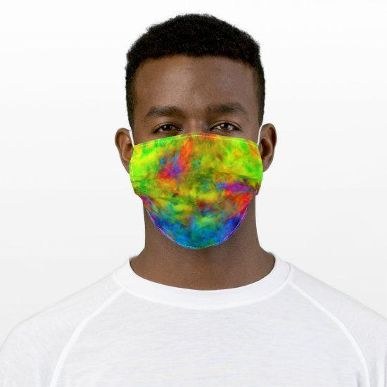 [Atomic Tie-Dye] Rainbow Colors Fractal Cloth Face Mask