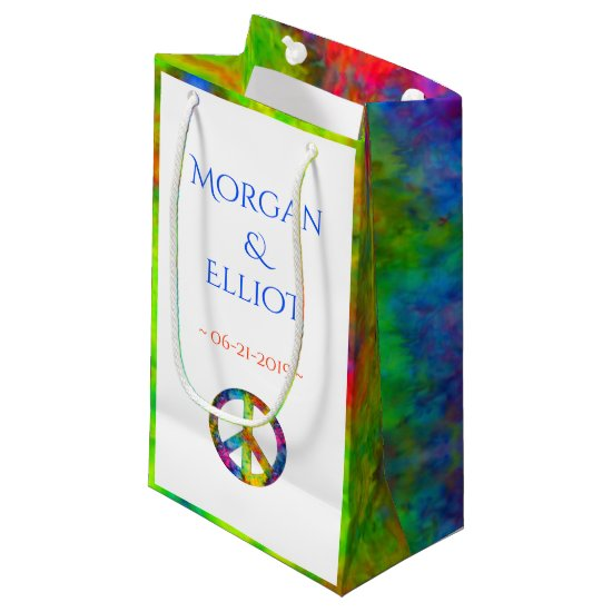 [Atomic Tie-Dye] Rainbow Peace Sign Favor Gift Bag
