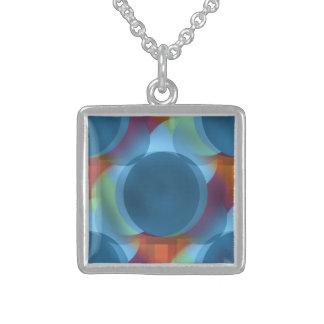 Atomic Tonic Square Pendant Necklace