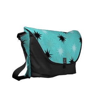 Atomic Turquoise Starbursts Messenger Bag