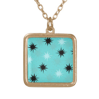 Atomic Turquoise Starbursts Necklace