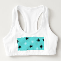 Atomic Turquoise Starbursts Sports Bra