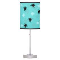 Atomic Turquoise Starbursts Table Lamp