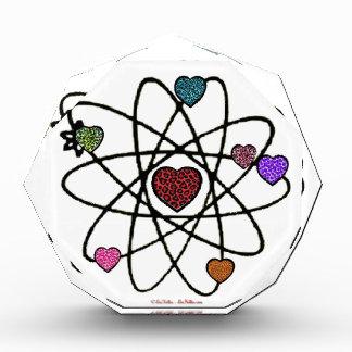 Atomic Valentine Leopard Print Hearts Award