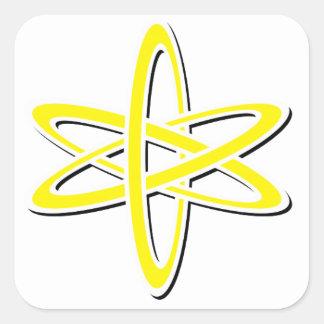 Atomic Yellow Square Sticker