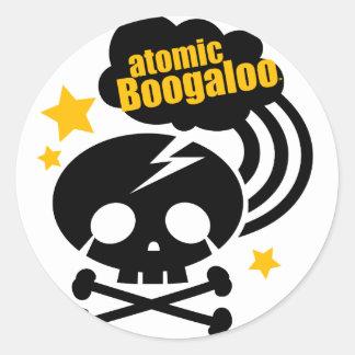 atomicboogaloo skull classic round sticker