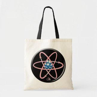 Atómico irónico bolsa tela barata