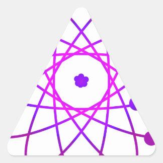Atómico Pegatina Triangular