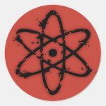 ¡Atomics nuclear! Etiquetas Redondas