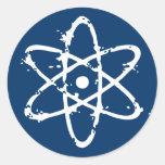 ¡Atomics nuclear! Pegatinas Redondas
