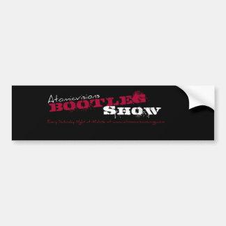 Atomicvisions Bootleg Show sticker Car Bumper Sticker
