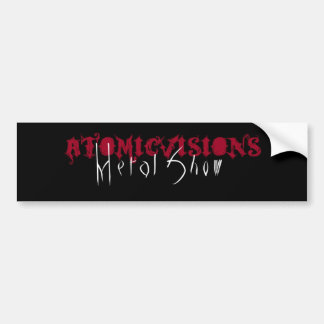 Atomicvisions Metal Show Stickers Car Bumper Sticker