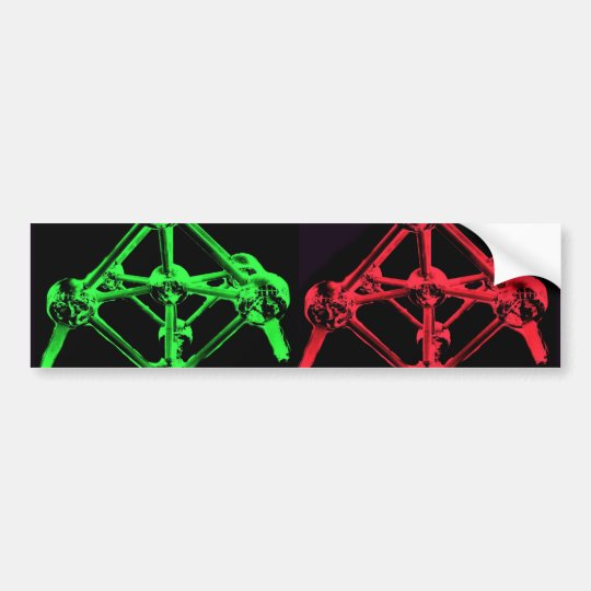 Atomium Collage Bumper Sticker