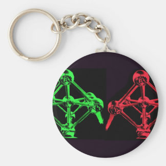 Atomium Collage Keychain