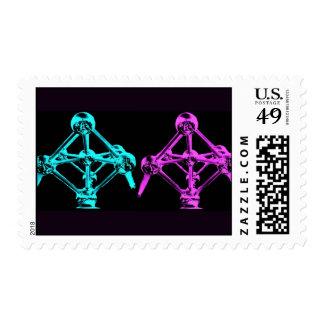 Atomium-I Collage Postage Stamp