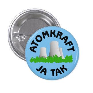 Atomkraft ja tak badge 1 inch round button
