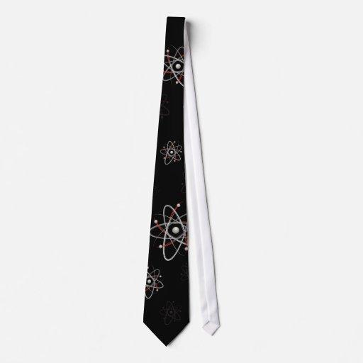 Átomo (002_i-3_P04 negro) - lazo Corbata Personalizada