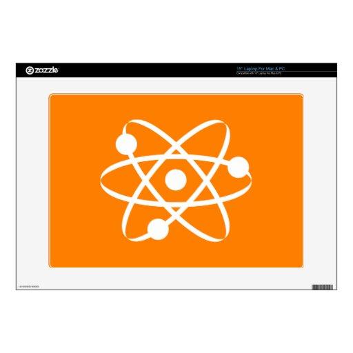 Átomo anaranjado 38,1cm portátil calcomanía