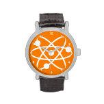Átomo anaranjado relojes