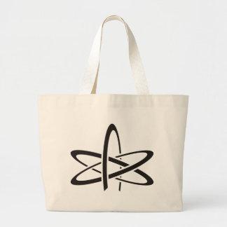 Átomo ateo bolsa tela grande