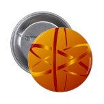 átomo ateo pin redondo de 2 pulgadas