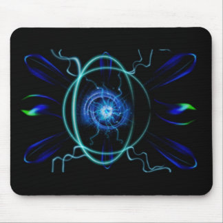 Átomo azul alfombrilla de ratón