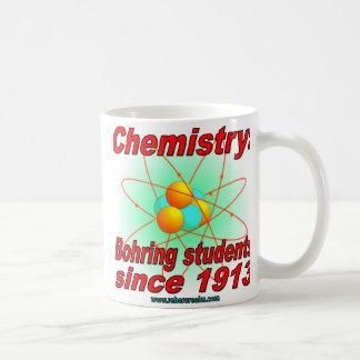 Átomo de Bohr, estudiantes de Bohring Taza Básica Blanca